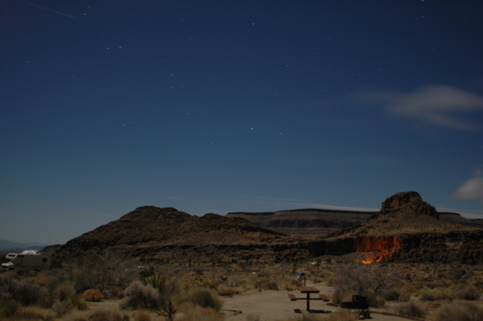 Hole-in-the-Wall campground, Mojave National Preserve.