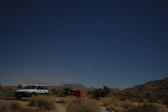 Big Dipper over our campsite, Mojave National Preserve.