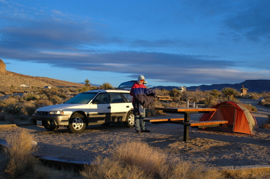 Getting up the morning at Hole-in-the-Wall campground, Mojave National Preserve.