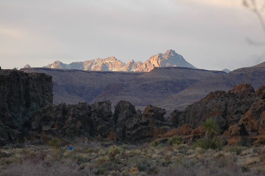 Mountains near Mojave National Preserve.