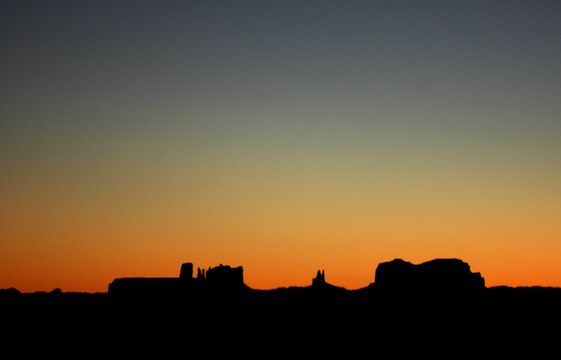 Sunset in Monument Valley, near Goulding's campground.