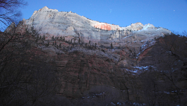 The Pleiades in Zion National Park.