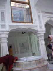 Woman paying homage to Guru Deep Singh.