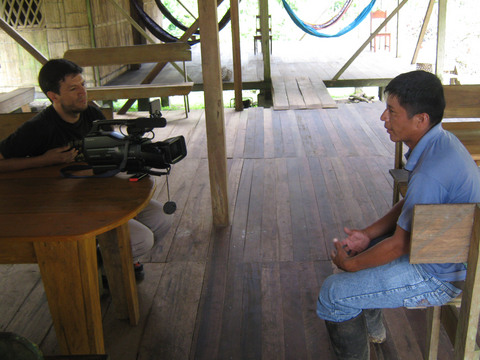 Making of a video about indigenous villages.