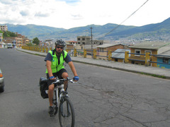 We biked out of Quito. This seemed like a mildly crazy idea given what we had heard about Quito traffic, but we stuck to minor streets as much as we could and it turned out to be . . . well, not easy, but at least only mildly crazy traffic.