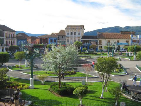 Sangolqui town square.