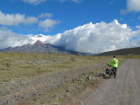 In addition to wind and rain, altitude is a major challenge in Ecuador.  Here, Seth walks the last two kilometers to our lodge.