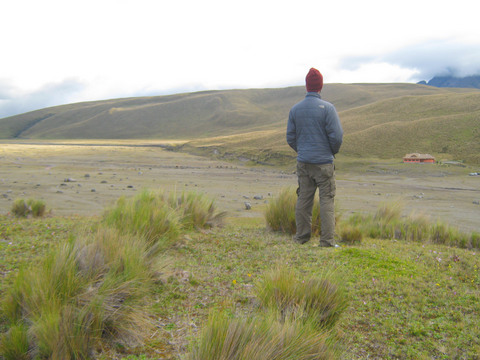 Hiking in the hills around Tambopaxi.