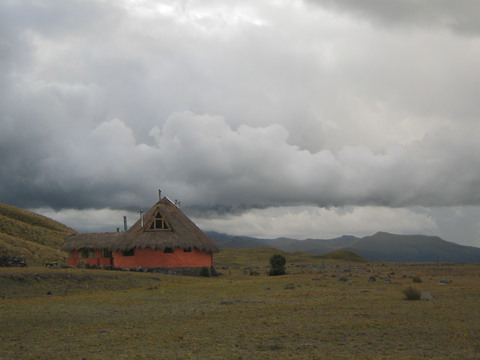 One of the buildings in Hosteria Tambopaxi, the only lodge in Cotopaxi national park.
