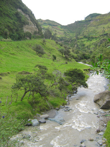 A mountain stream near Chugchilan, Ecuador.