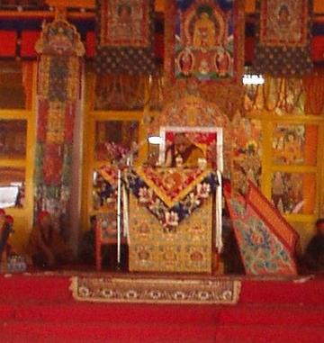 The Dalai Lama at the 2003 Kalachakra, Bodhgaya.