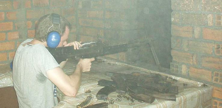 Firing an M-60, Phenom Penh.