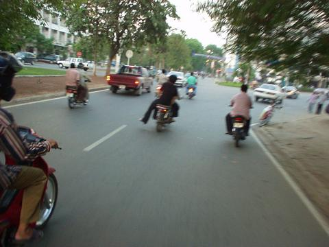 Cambodian traffic.