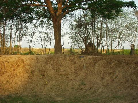 Exhumed grave, killing fields, outside of Phenom Penh.