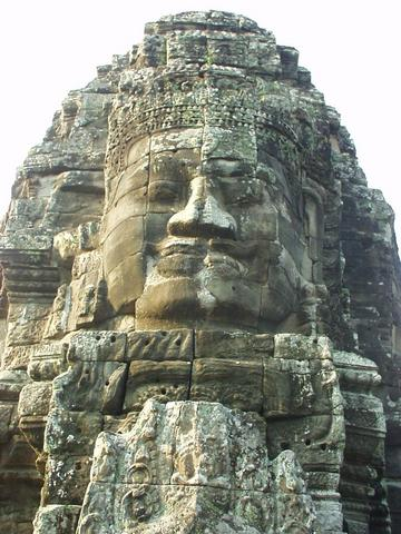 Statue of Avalokitesvara, the Bayon, ruins of Angkor.