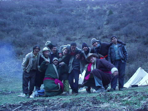 A group of people I went on a horseback trip with in Songpan, Sichuan.