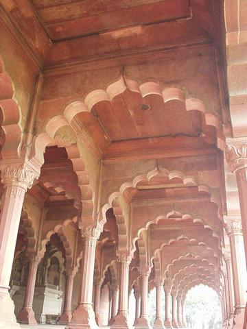 The Diwan-i-Am of the Red Fort, up close and personal.