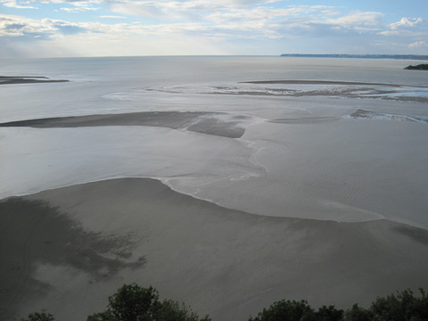 The tidal flats around Mont St. Michel are one of the most striking natural wonders of Normandy.