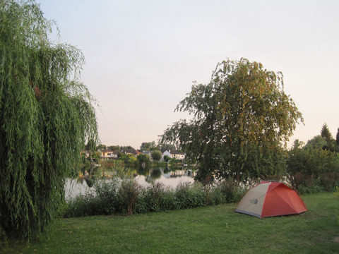 A campsite near Speyer, Germany.