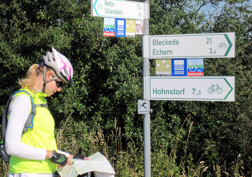 Although it is possible to bike tour in Germany just by following the signs, it is often helpful to have a bike touring map as well.