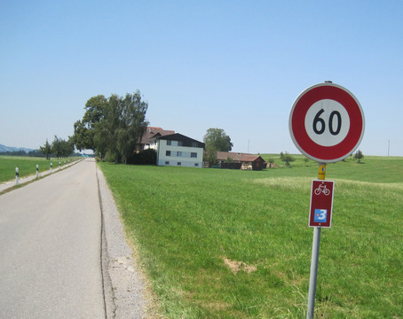 Bike signage for national bike routes was also excellent in Switzerland.