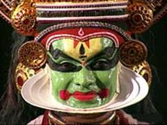 Kathakali theater performer.