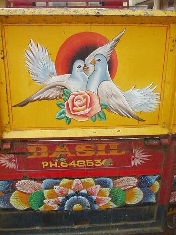 Back of truck, Fort Cochin, Kerala.
