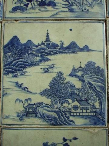 Chinese floor tiles in Mattancherry synagogue.