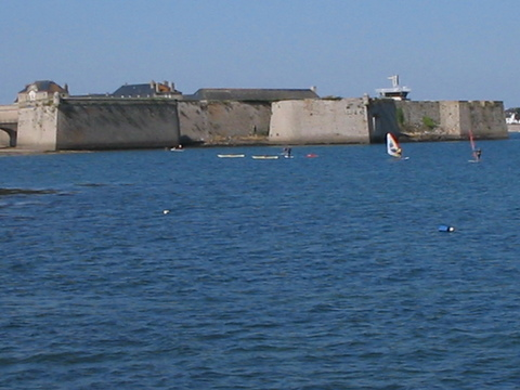 Port Louis, on the opposite side of Blavet Bay from Lorient.  This is now in Southern Bretagne, on the Bay of Biscay (the Atlantic).
