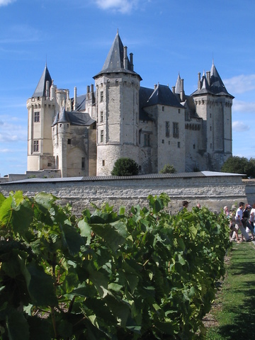 The Chateau of Saumur, from the 13th Century, back when they built these things for a fight.  Inhabited by the dukes of Anjou, the surrounding region.