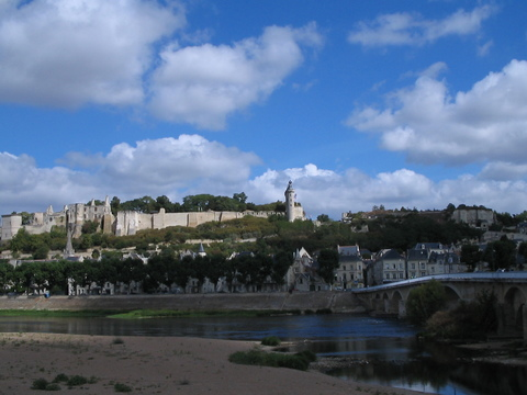 Chinon, a city actually on the Vienne, a tributary of the Loire.