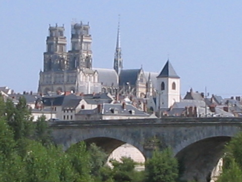 Orléans.  Churches and cathedrals are central to French villages and cities.  Seeing a massive urban cathedral is a totally different experience after going past dozens of smaller churches in the preceding week.