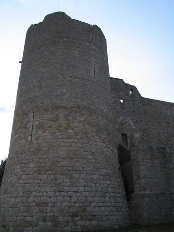 Yevre-le-Chatel, a stronghold built in the early 13th century.