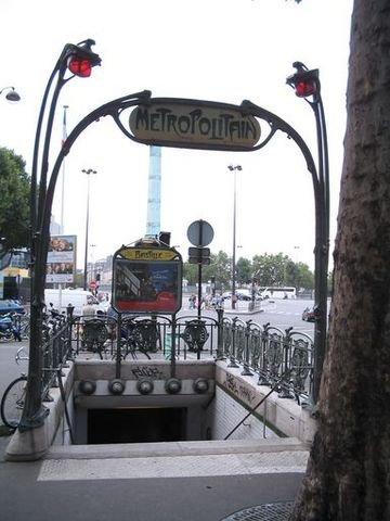 The Bastille Stop of the Paris Metro.