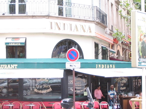 The Indiana Cafe in Paris.  Funny what gets exotic once you get far enough away.