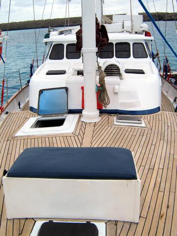 On deck on the Encantada.