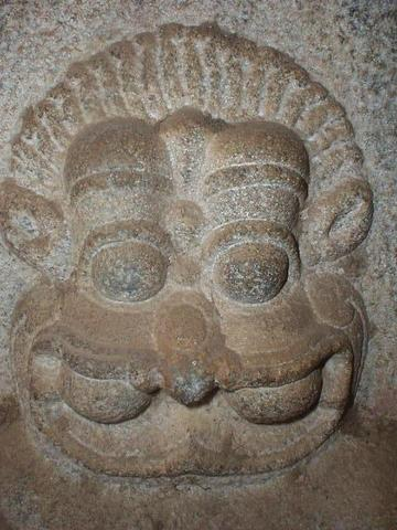 Narasimha, the man-lion incarnation of Vishnu, Vittala temple.