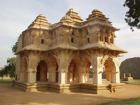The Lotus Mahal, in the Zenana enclosure, Hampi.