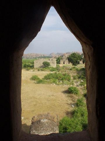 View from one of the windows of a tower in the Zenana Enclosure.