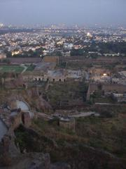The city of Hyderabad as seen from Golconda Fort.