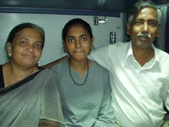 Martha, Josemy, and Jose, the familiy with which I shared a compartment on the tain.