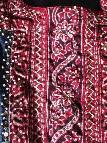 Pattern on fabric hanging out to dry, Kodaikanal.