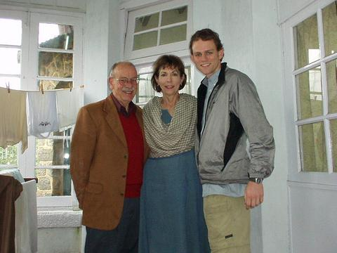 With Don and Betchen Oberdorfer, in the entryway to their cottage, Kodaikanal.