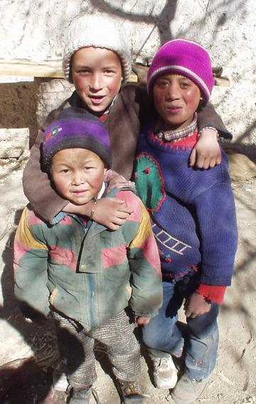 Children in the town of Alchi, Ladakh.
