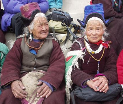 Ladakhi women at the 2003 Spituk Festival.