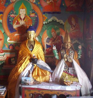 Buddhist idols in the Likir gompa.