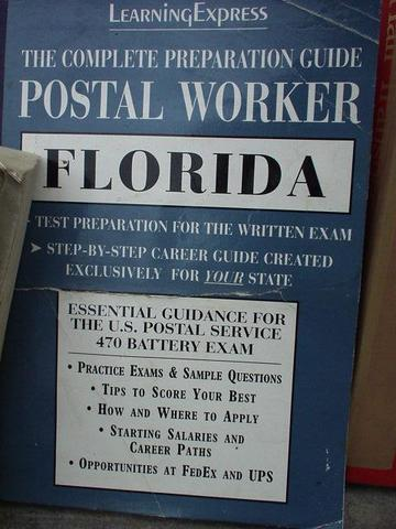 Florida Postal Worker preparation guide, in a bookstore in Madurai.