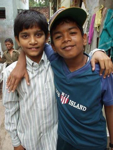 Two boys on the street in Madurai.