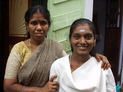 Two women in Madurai.