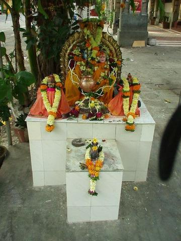 Small temple to Hindu god.